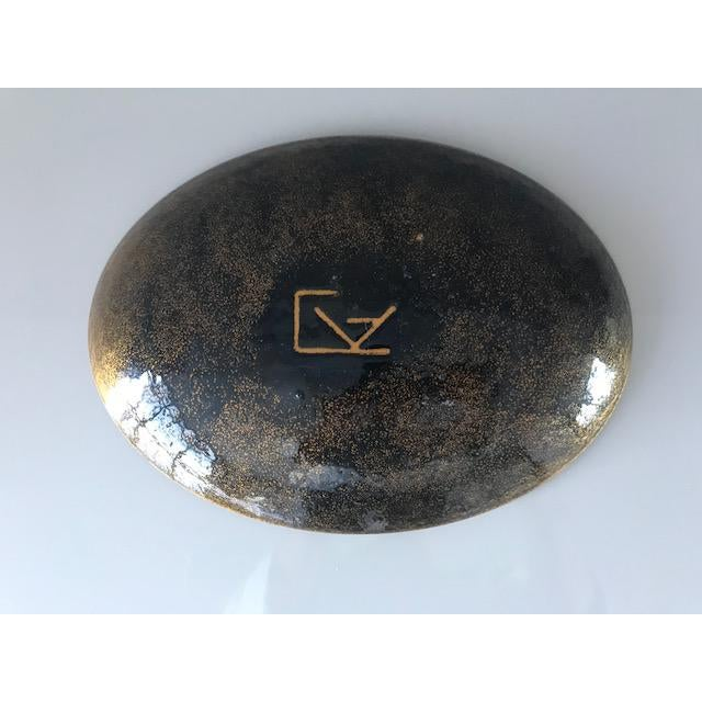 Mid Century Modern Enamel Over Copper Plate/Dish - Image 5 of 5