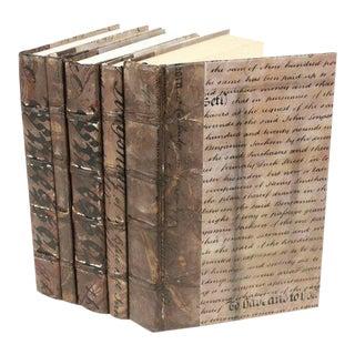 Antique Script Bronze Books - Set of 5