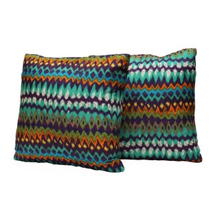 Vibrant Tribal Print Pillows - Pair