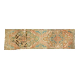 "Vintage Distressed Oushak Rug Runner - 3'1"" x 10'9"""