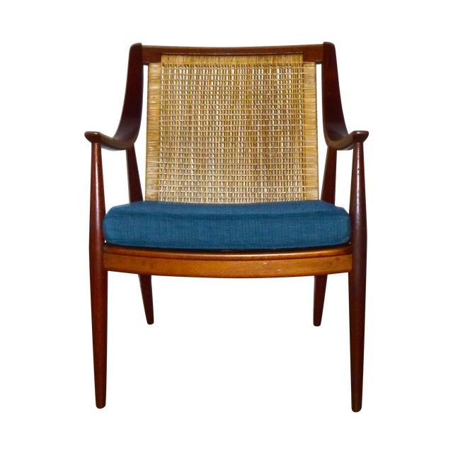 Danish Modern Peter Hvidt Cane Back Chair - Image 1 of 7