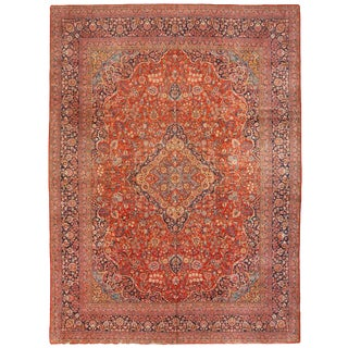 Exceptional Extremely Fine Antique Kashan Carpet