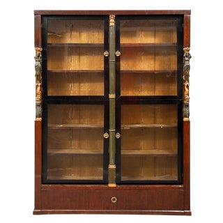 Narrow Antique Empire Bookcase