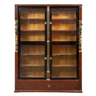 Narrow Antique Empire Bookcase