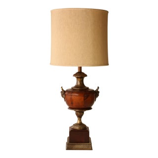 Frederick Cooper Wooden Urn Trophy Lamp
