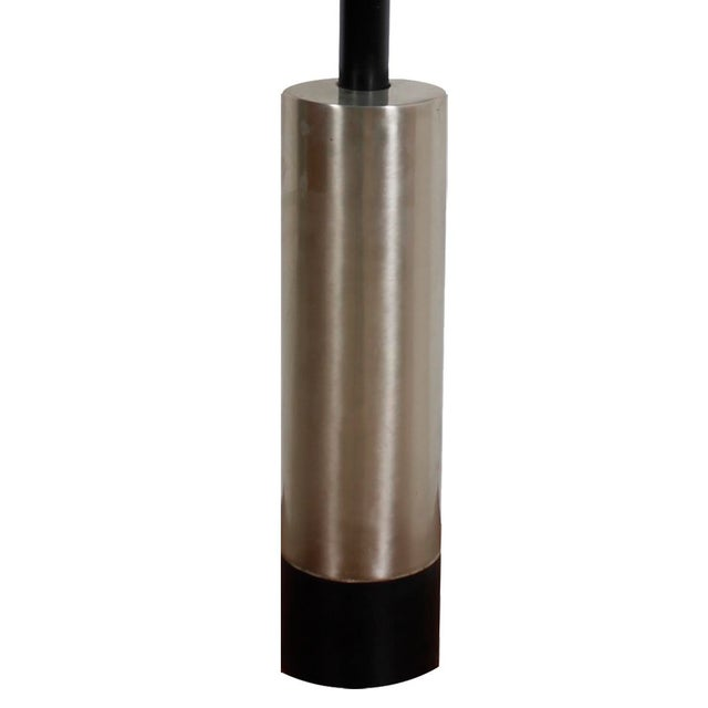 Mid-Century Modern Lamp With a Brushed Chrome Cylinder - Image 2 of 5