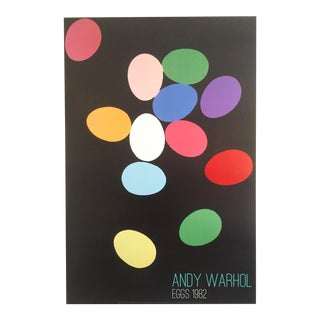 "Andy Warhol Original Lithograph Print Pop Art Poster "" Multicolor Eggs "" 1982"