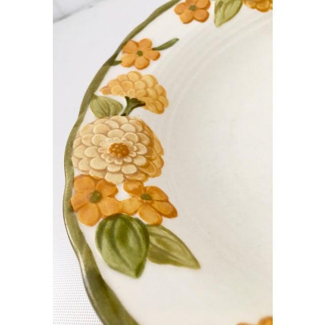 "Image of 1960s Ceramic Metlox ""Zinnia"" Dinnerware - Set of 22"