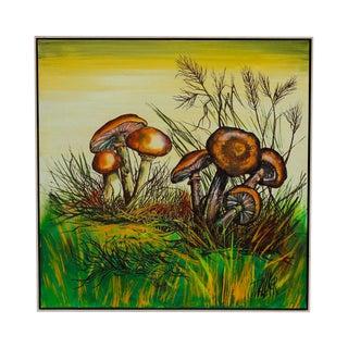J. Walker Mushrooms Painting