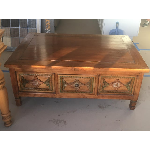 Hand Carved Coffee Table - Image 3 of 6
