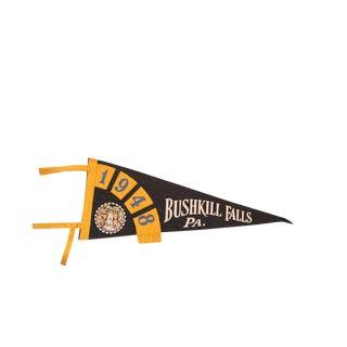 1948 Bushkill Falls PA Felt Flag