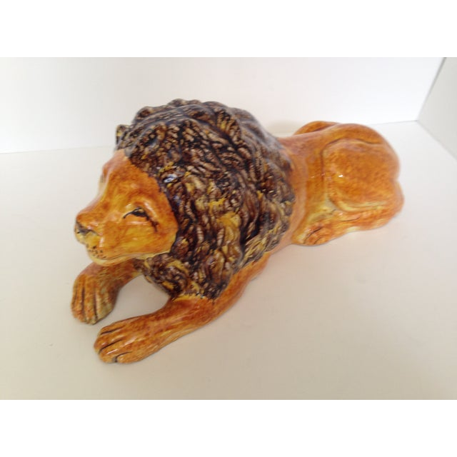 Image of Italian Ceramic Lion
