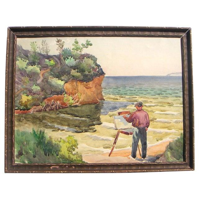 Image of California Plein Air Artist Painting