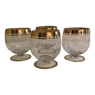 Mid-Century Hollywood Regency Brandy Glasses - Set of 4