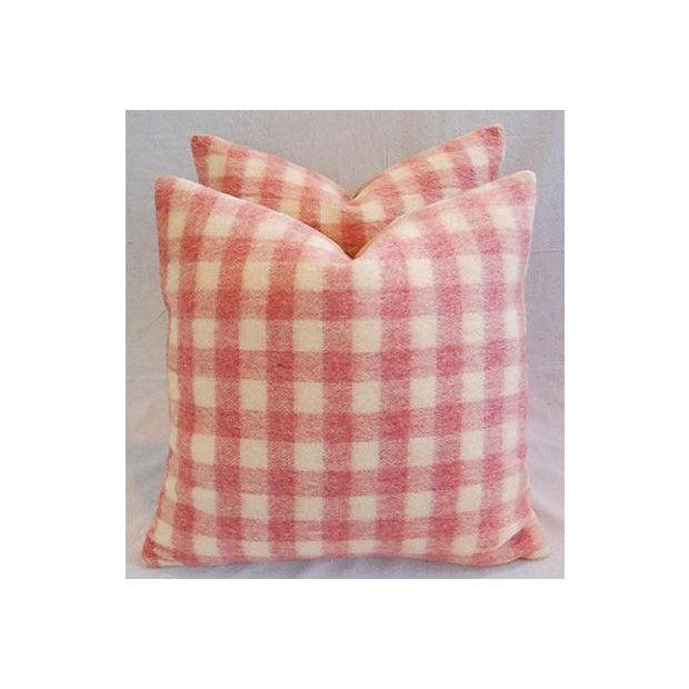 Image of Custom Scottish Plaid Virgin Wool Pillows - A Pair