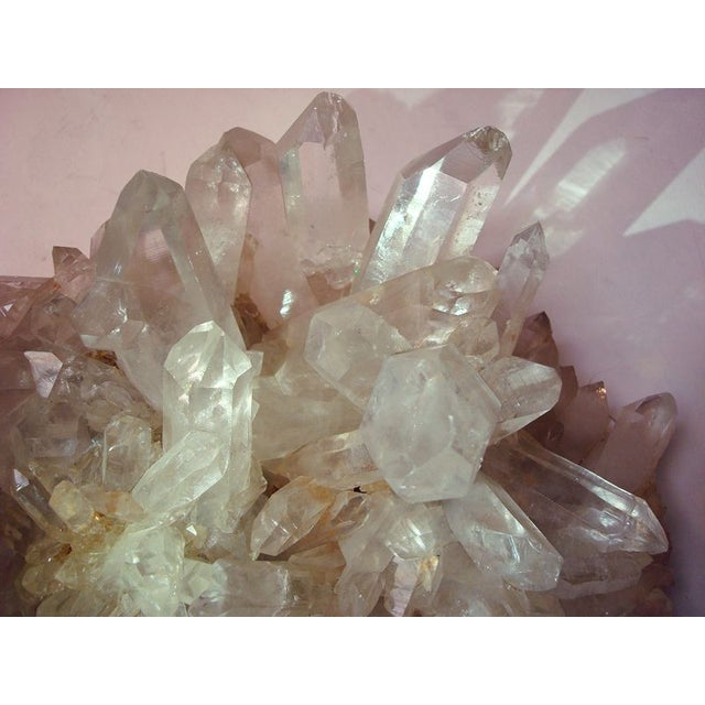 Large Quartz Crystal Cluster with Stand - Image 7 of 7