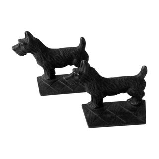 Verona Vintage 1930s Scottie Dog Bookends - A Pair