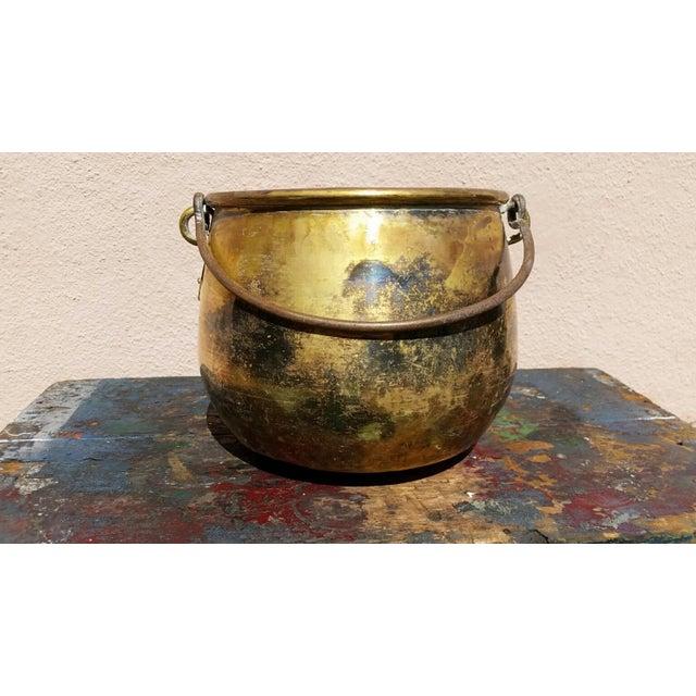 Large Brass Handled Pot - Image 3 of 6