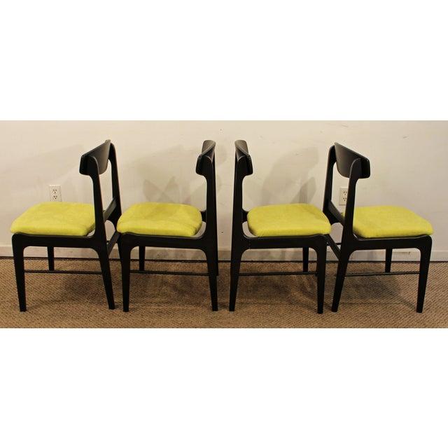 Mid-Century Danish Modern Ebonized 'Citron' Curved Back Dining Chairs - Set of 4 - Image 5 of 11