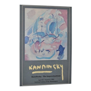National Gallery of Fine Art Kandinsky Exhibition Poster C.1981
