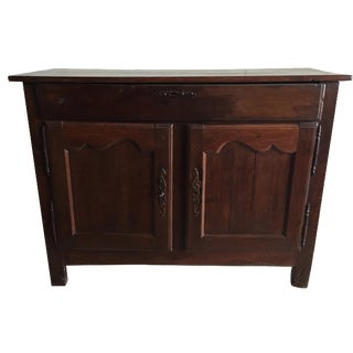 Antique French Country Walnut Cabinet
