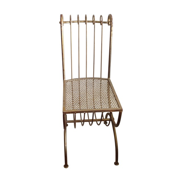 1950's Hollywood Regency Gold Gilt Vanity Chair - Image 1 of 10