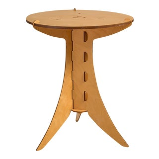 A David Kawecki Designed Puzzle Plywood Side Table, 1990s