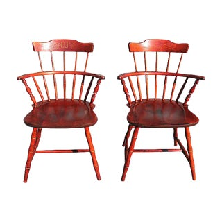 Pair Early American Windsor Chairs