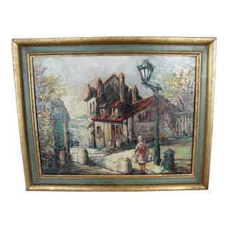 Vintage Impressionist Oil on Canvas Painting