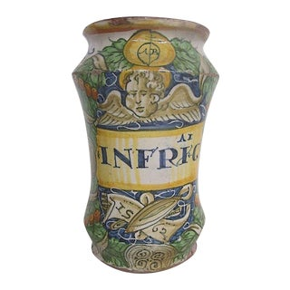 16th C. Italian Majolica Albarello Pharmacy Jar