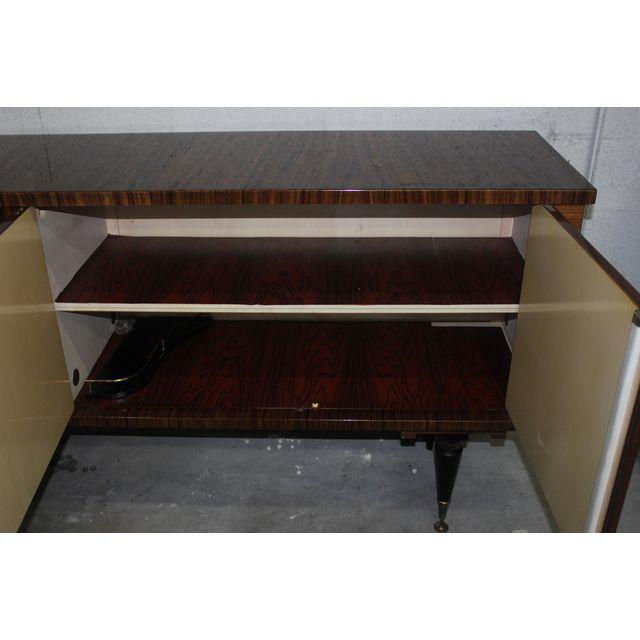 1940s Vintage French Art Deco Macassar Ebony Sideboard or Buffet/Bar - Image 10 of 10