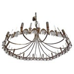 Image of Italian Modern Neoclassical Gilt Bronze and Crystal Chandelier