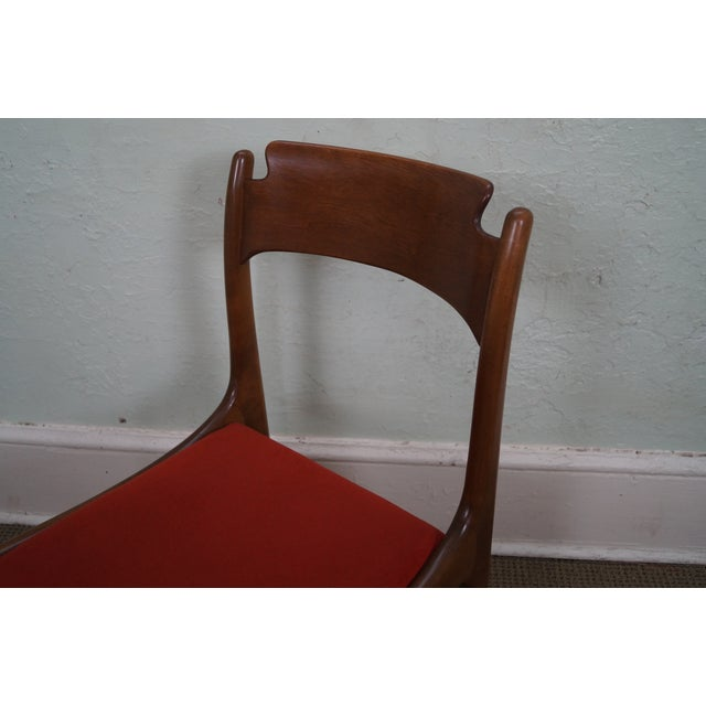Image of Italian Walnut Midcentury Modern Dining Chairs - 6