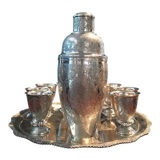 Antique Sterling Silver Cocktail Set - Set of 10