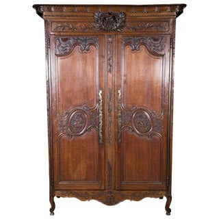 Country French Normandy Wedding Armoire