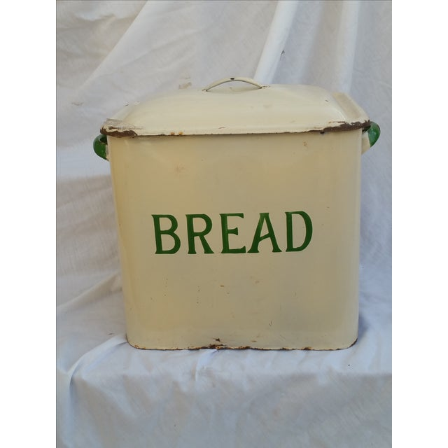 Art Deco Enamel Bread Bin - Image 2 of 5
