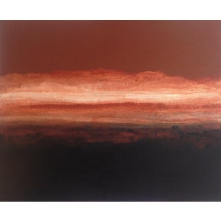 "S Christy ""Sand"" Abstract Black and Brown Painting"