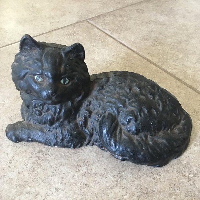 Antique Hubley Cast Iron Persian Cat Doorstop - Image 9 of 10