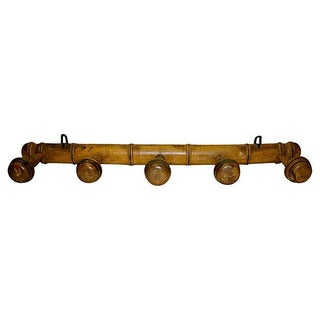 Antique 19th C. French Five-Peg Hat & Coat Rack