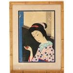 Image of Original 1800s Japanese Asian Art Print