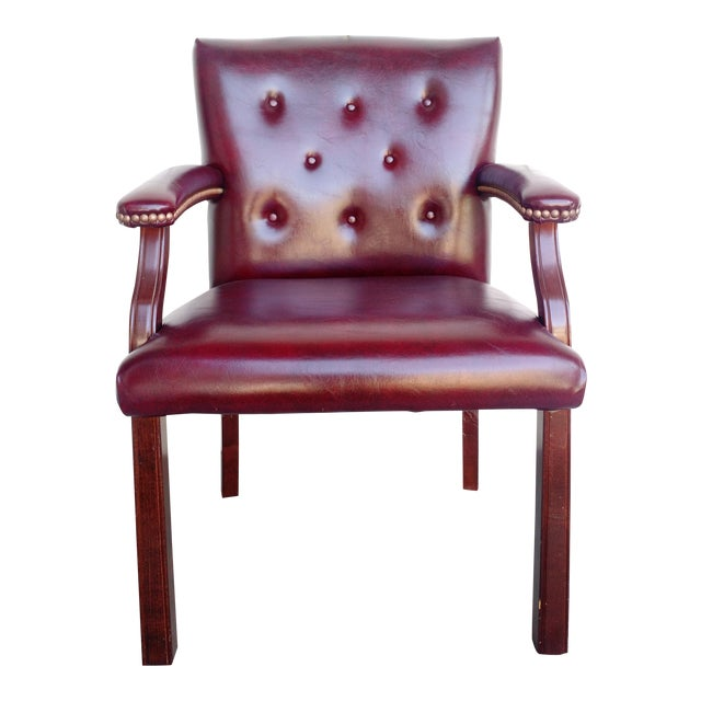 Oxblood Executive Guest Chair - Image 1 of 5
