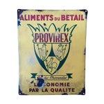 Image of Vintage 1940's French Butcher Porcelain Sign