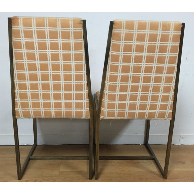 Image of John Stuart Brass Dining Chairs - Set of 6