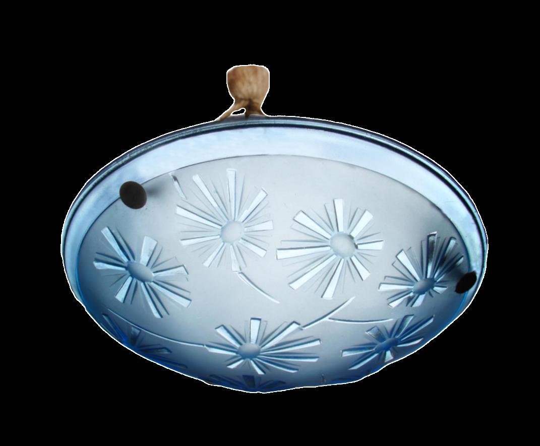 1930u0027s art deco aqua pressed glass chandelier