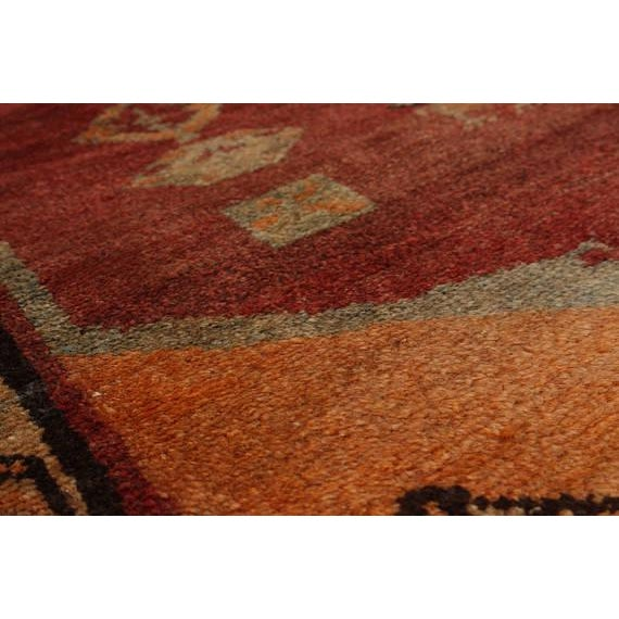 """Vintage Persian Tribal Abstract Design Runner Rug, 1970s - 42"""" x 108"""" - Image 2 of 3"""