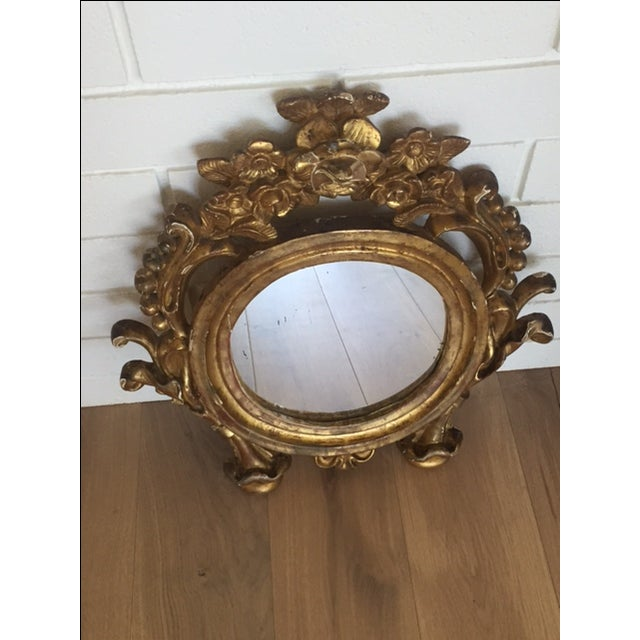 Antique Carved Gold Mirror - Image 4 of 9