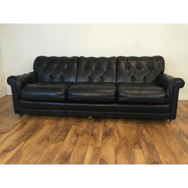Vintage Leather Sofa By Leathercraft Chairish