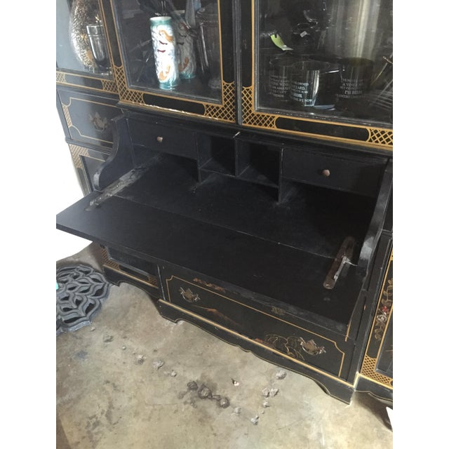 Image of Hand-Painted 60s Buffet and Pull-Out Petite Desk