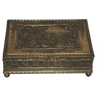 Antique Repousse Brass Box