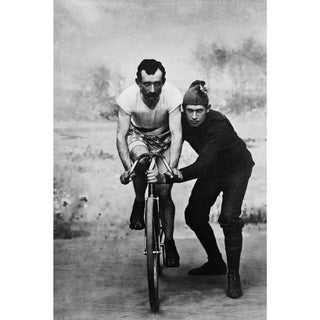 19th-C. Bicycle Rider & Trainer Photography